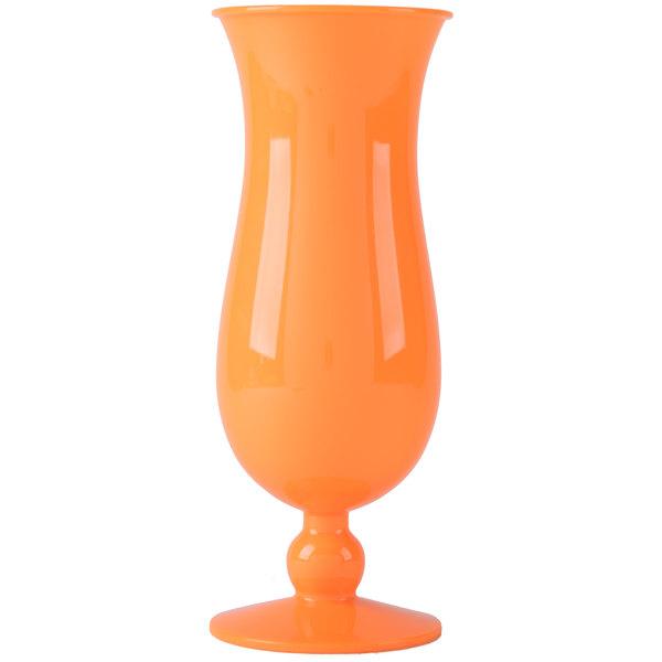 GET HUR-1-OR 15 oz. Orange Plastic Hurricane Glass - 24/Case