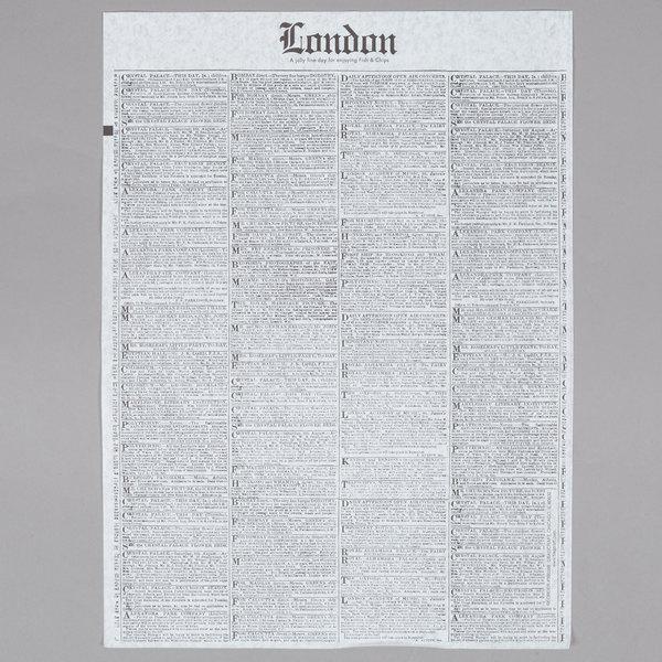 Bagcraft Papercon 300388 16 inch x 12 inch Newsprint Deli Sandwich Wrap Paper - 1000/Pack