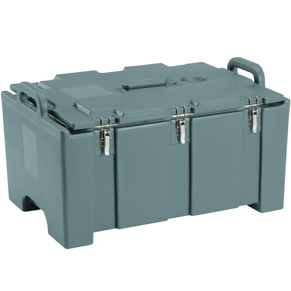 "Cambro 100MPC Camcarrier Slate Blue Top loading Pan Carrier with Handles for 12"" x 20"" Food Pans"