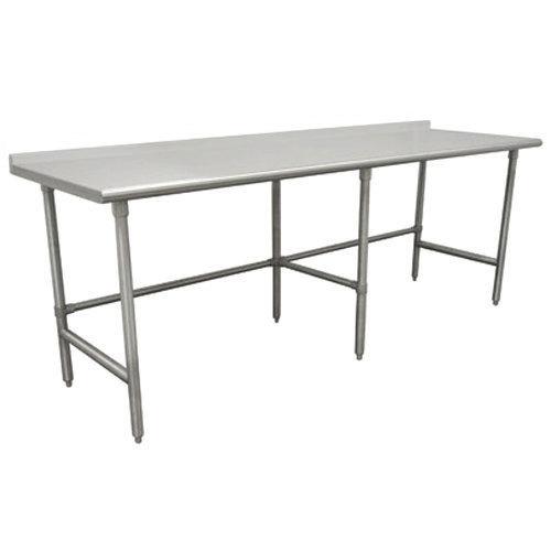"Advance Tabco TFAG-3611 36"" x 132"" 16 Gauge Super Saver Commercial Work Table with 1 1/2"" Backsplash"