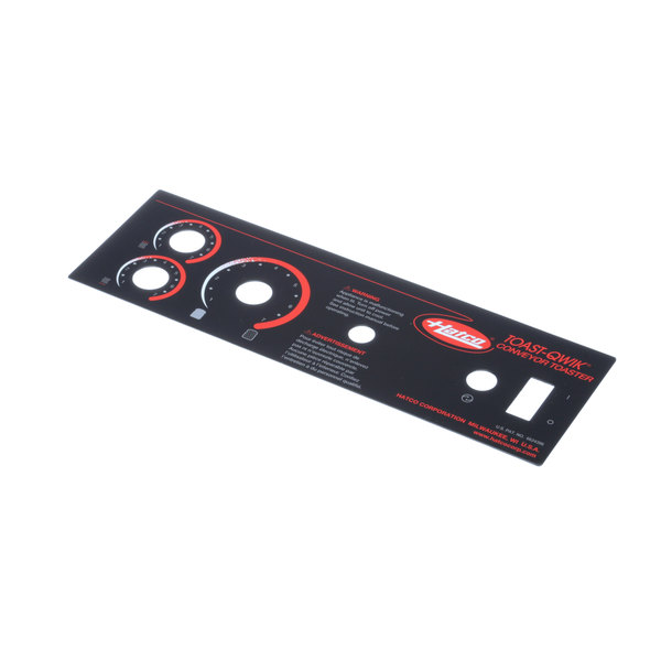Hatco 07.01.255.00 Decal, Control Plate