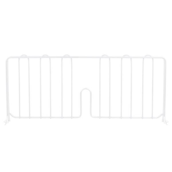 """Metro DD21W 21"""" White Wire Shelf Divider"""