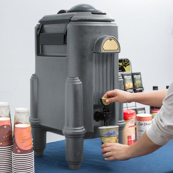 Cambro CSR5191 Camserver® 5 Gallon Granite Gray Insulated Beverage Dispenser Main Image 4