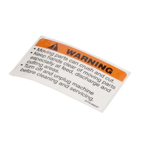 Berkel 01-403175-00537 Warning Decal Main Image 1