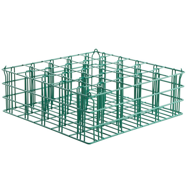 "25 Compartment Catering Glassware Basket - 3 1/2"" x 3 1/2"" x 6 1/2"" Compartments"