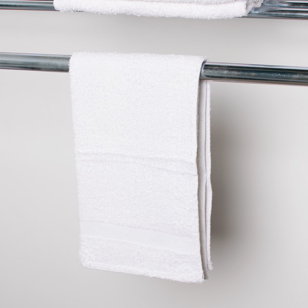 """15"""" x 27"""" 100% Open End Cotton Hotel Hand Towel 3.5 lb. - 12/Pack"""