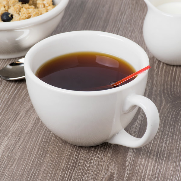 Syracuse China 950093173 Flint Alatta 18 oz. Ivory (American White) Porcelain Coffee Cup - 12/Case