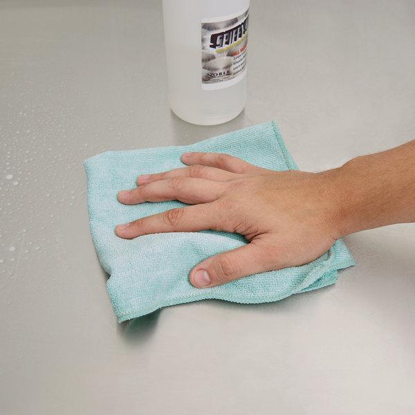 "Carlisle 3633409 16"" x 16"" Green Terry Microfiber Cleaning Cloth"