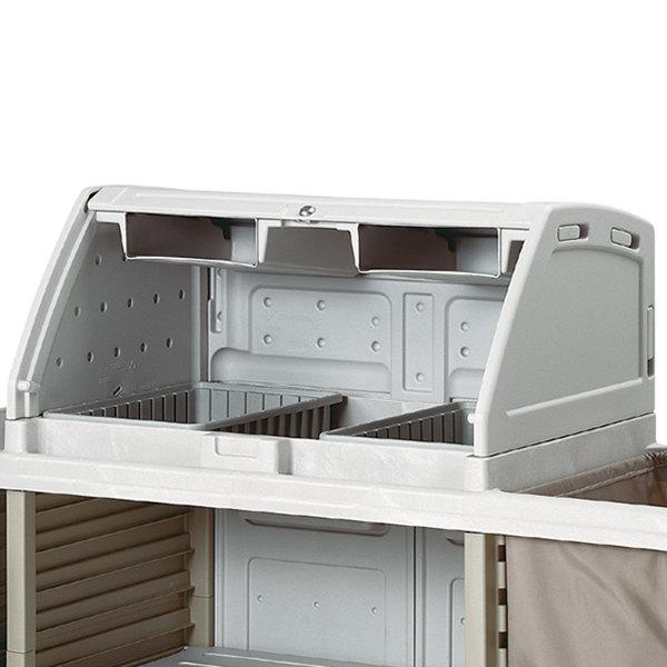 Metro LXHK-TS Locking Top Shroud for Lodgix Housekeeping Carts Main Image 1