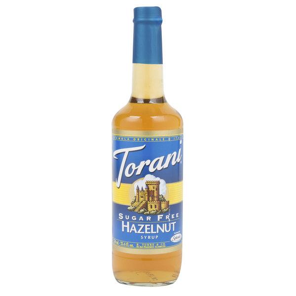 Torani 750 mL Sugar Free Hazelnut Flavoring Syrup Main Image 1