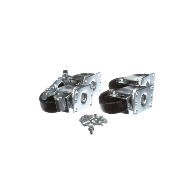 Silver King 10314-79 4 In Caster/Plate - 4/Set