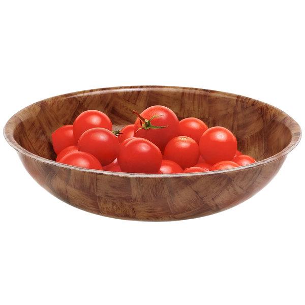 Cambro 6F301 Dark Basketweave Fiberglass Salad Bowl 14.3 oz. - 12/Case
