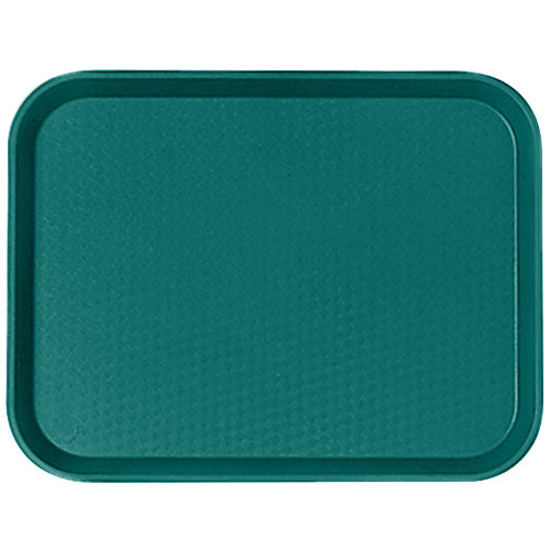 """Cambro 1216FF414 12"""" x 16"""" Teal Customizable Fast Food Tray - 24/Case"""