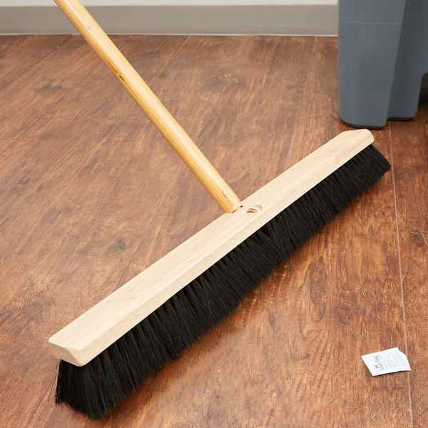"Carlisle 3621922403 Flo Pac 24"" Push Broom Head with Black Bristles"