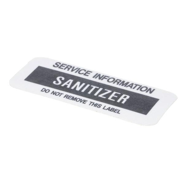 Glastender 01000486 Decal Sanitizer Main Image 1