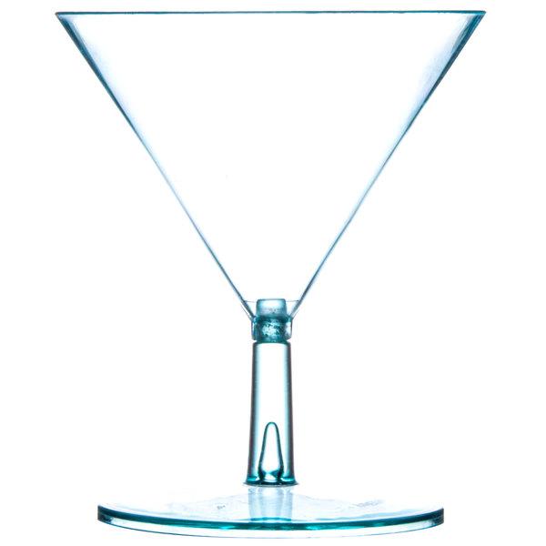 Fineline Tiny Temptations 6401-GRN 2 oz. Tiny Tinis 2-Piece Green Plastic Glass - 120/Case
