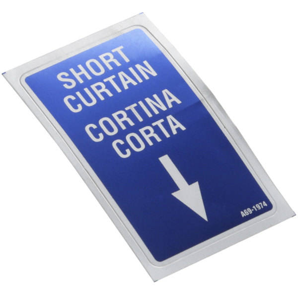 Stero 0A-691974 Decal; Short Curtain