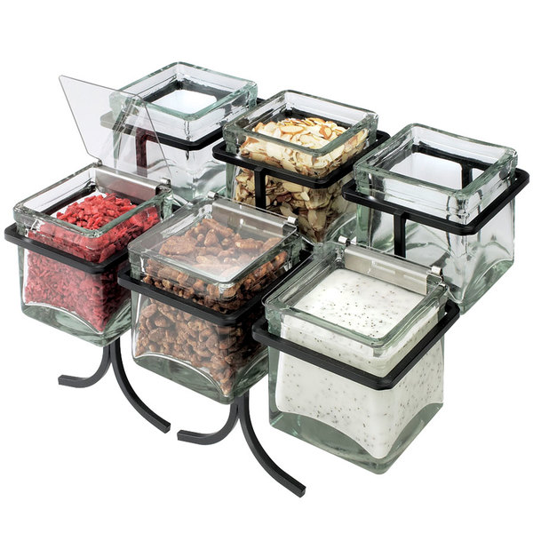Cal-Mil 1809-13 Black Iron, 6 Jar Display - 14\