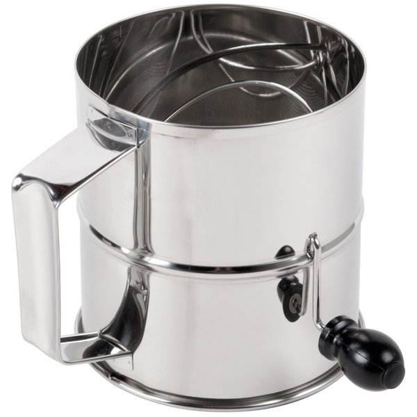 8 Cup Stainless Steel Rotary Flour / Powdered Sugar Sifter Main Image 1