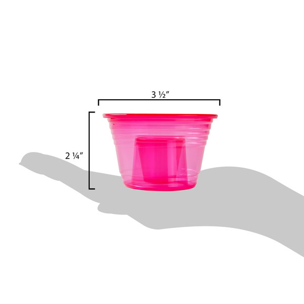 NEW 500 Red Pink Jager Bomb Blaster Power Shot Glass Disposable Plastic Cup Case