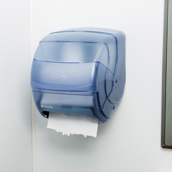 San Jamar T850TBL Integra Roll Towel Dispenser - Arctic Blue