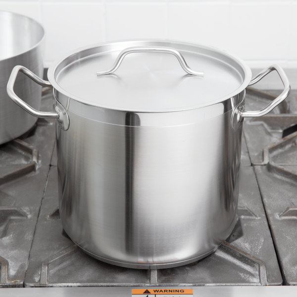 Vollrath 3501 Optio 8 Qt Stainless Steel Stock Pot With Cover