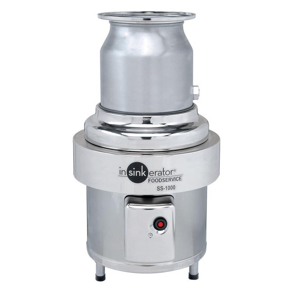 Insinkerator SS-1000-12 Short Body Commercial Garbage Disposer- 10 hp, 3 Phase Main Image 1