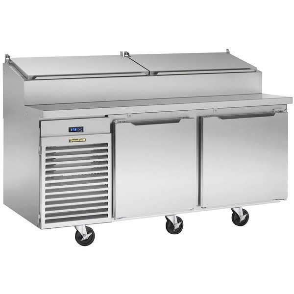 """Traulsen TS066HT 66"""" Salad / Pizza Prep Refrigerator with Two Doors - Specification Line Main Image 1"""