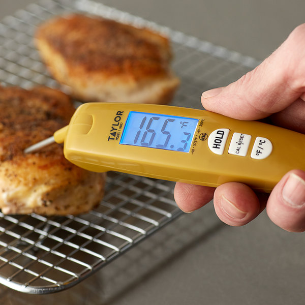 ELECTRONIC HAND HELD THERMOMETER PROBE CATERING GRADE CHOICE OF COLOURS