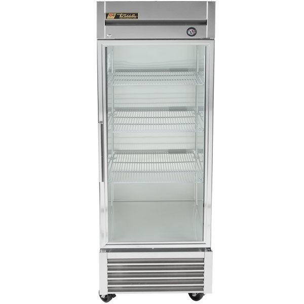 True T-23G-LD One Section Glass Door Reach In Refrigerator with LED Lighting