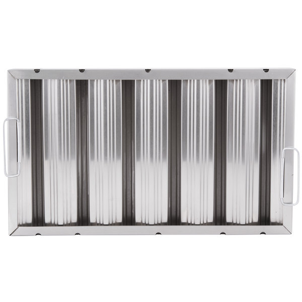 """All Points 26-3902 12""""(H) x 20""""(W) x 2""""(T) Stainless Steel Hood Filter - Ridged Baffles Main Image 1"""