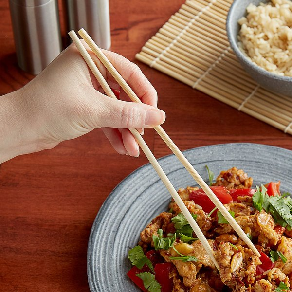 "Kari-Out Company 9"" Bamboo Chopsticks - 100/Pack"