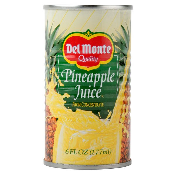 Del Monte 6 oz. Canned Pineapple Juice - 48/Case