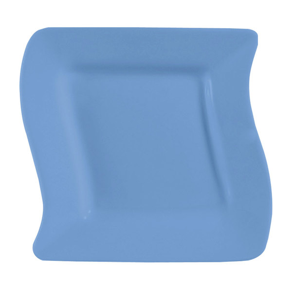 "CAC SOH-8LB Color Soho 8 1/2"" Light Blue Square Stoneware Plate - 24/Case"