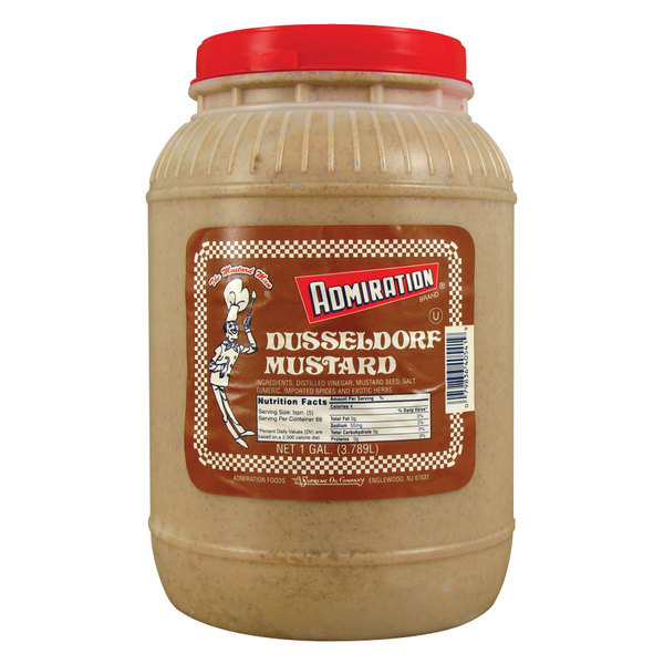 Admiration Dusseldorf Mustard - (4) 1 Gallon Containers / Case - 4/Case