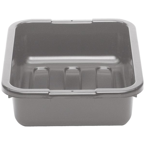 "Cambro 21155CBP180 Cambox 21"" x 15"" x 5"" Light Gray Polyethylene Plastic Bus Box with Ribbed Bottom"