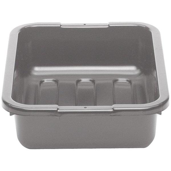 "Cambro 21155CBP180 Poly Cambox 21"" x 15"" x 5"" Light Gray Polyethylene Bus Tub with Ribbed Bottom Main Image 1"