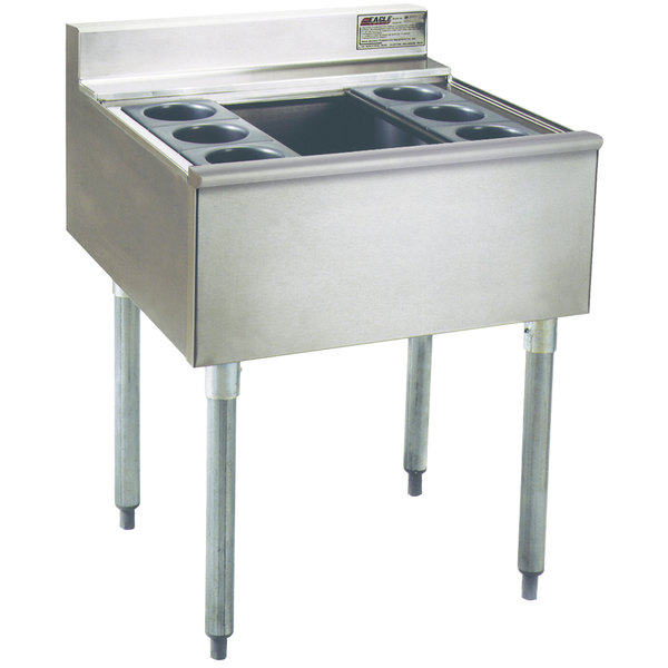 """Eagle Group B2CT-22 24"""" Underbar Cocktail / Ice Bin with Six Bottle Holders Main Image 1"""
