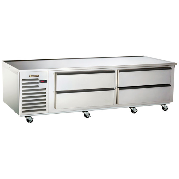 "Traulsen TE084HT 4 Drawer 84"" Refrigerated Chef Base - Specification Line Main Image 1"