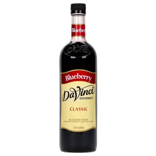 DaVinci Gourmet 750 mL Blueberry Classic Coffee Flavoring / Fruit Syrup