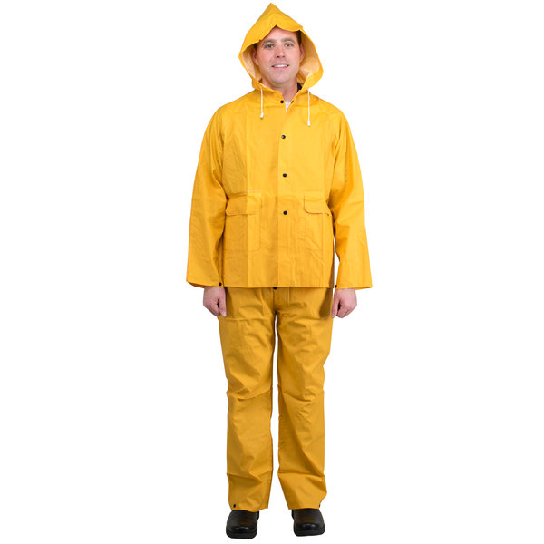 Yellow 2 Piece Rainsuit - Medium