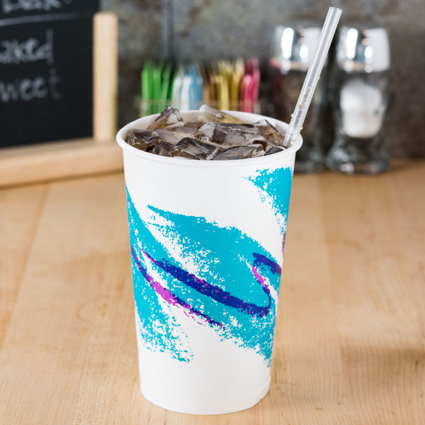 Dart Solo RP16P-00055 Jazz 16-18 oz. Poly Paper Cold Cup - 50/Pack