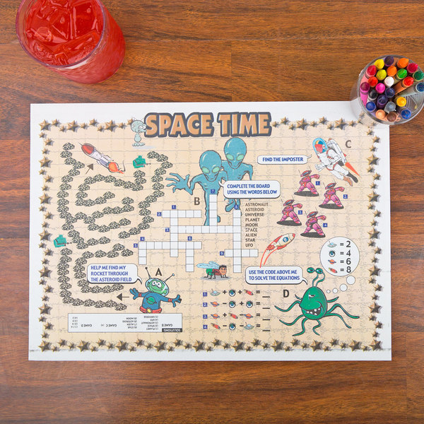 Space Time Interactive Placemat - 1000/Case