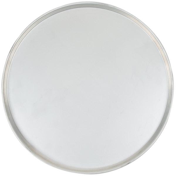 "American Metalcraft T2016 16"" x 1/2"" Tin-Plated Steel Tapered / Nesting Deep Dish Pizza Pan"