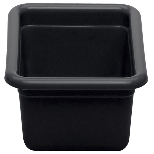 "Cambro 912CBP110 Poly Cambox 12"" x 9"" x 5"" Black Polyethylene Utility Box / Undercounter Bus Tub Main Image 1"
