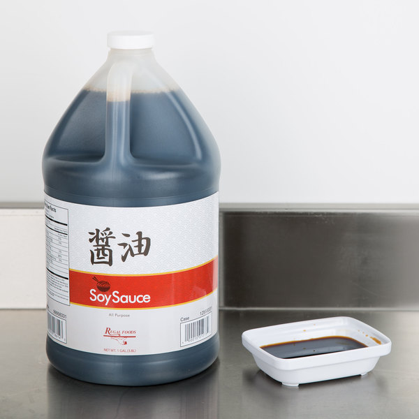 Regal Foods Soy Sauce 1 Gallon Bulk Container - 4/Case
