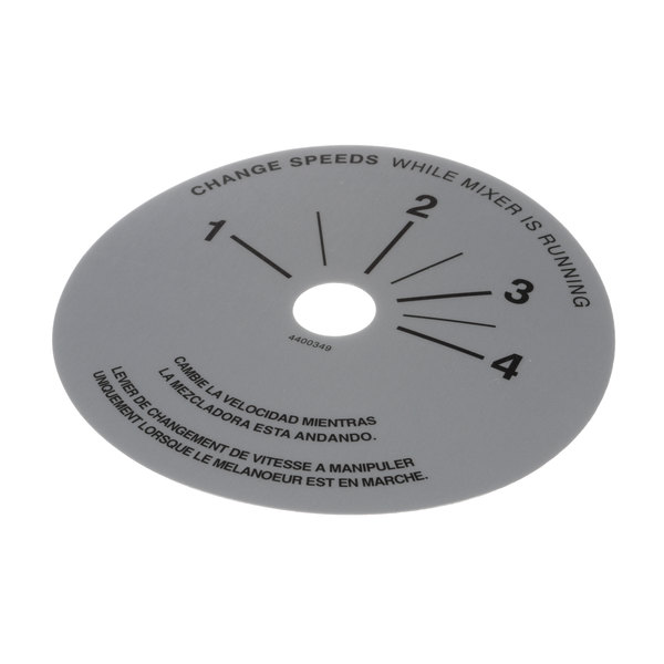 Univex 4400349 Decal, Speed Control Main Image 1