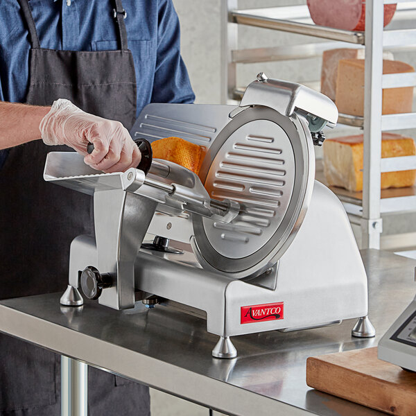 "Avantco SL310 10"" Manual Gravity Feed Meat Slicer - 1/4 hp Main Image 4"