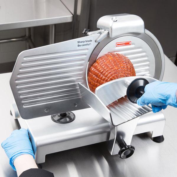 "Avantco SL310 10"" Manual Gravity Feed Meat Slicer - 1/4 hp"
