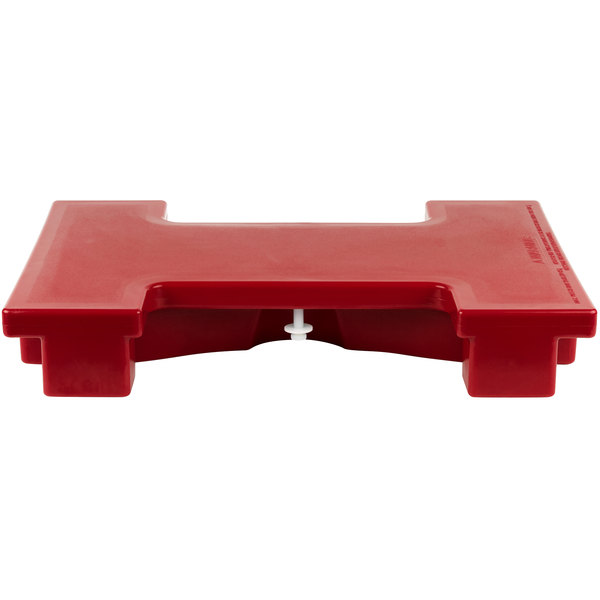 Cambro VBRC158 Hot Red Straight Connector for Versa Food Bars